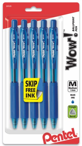 Pentel Wow! Medium Point Ballpoint Pens - Blue Perspective: front