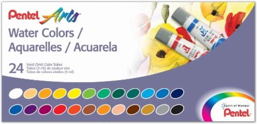 Pentel Arts Water Colors Vivid Color Tubes Perspective: front