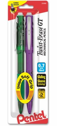 Pentel 0.7mm Medium Point Twist-Erase GT Mechanical Pencils Perspective: front