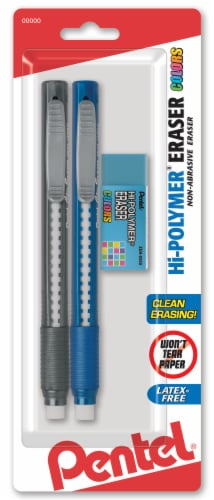 Pentel Hi-Polymer Erasers Set Perspective: front
