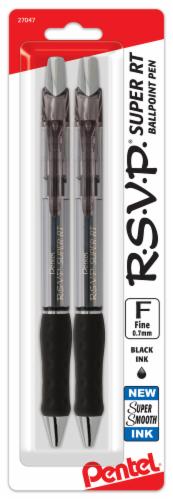 Pentel RSVP Fine Line Ballpoint Pens - Black Perspective: front
