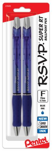 Pentel RSVP Fine Line Ballpoint Pens - Blue Perspective: front