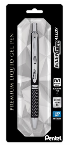 Pentel Energel Alloy Premium Liquid Gel Pen - Black Perspective: front