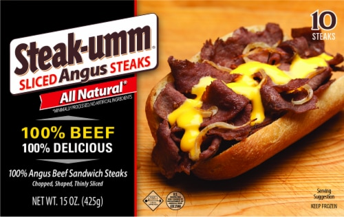 Steak-umm All Natural 100% Beef Angus Sandwich Steaks Perspective: front