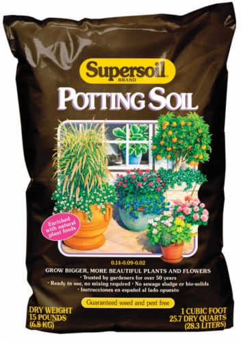 Supersoil Potting Soil 1 - Case Of: 1; Perspective: front
