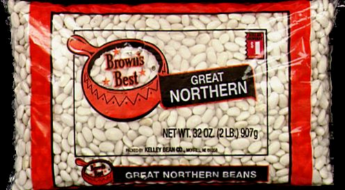 Brown's Best Great Northern Beans Perspective: front