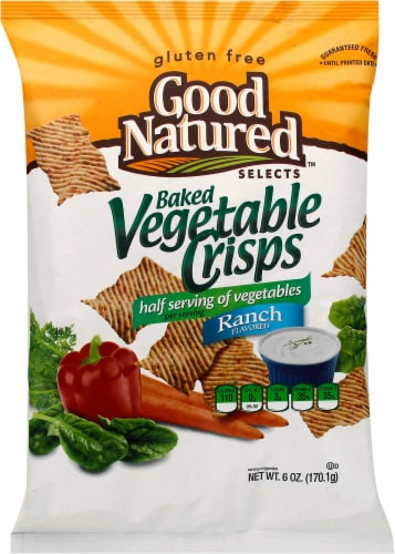 Good Natured Selects Gluten-free Baked Vegetable Crisps - Ranch Perspective: front