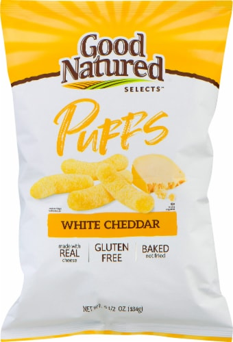 Good Natured Selects Gluten-Free White Cheddar Puffs Snack Perspective: front