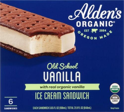Alden's Organic Old School Vanilla Ice Cream Sandwiches Perspective: front
