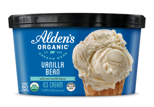 Alden's Organic Vanilla Bean Ice Cream Perspective: front