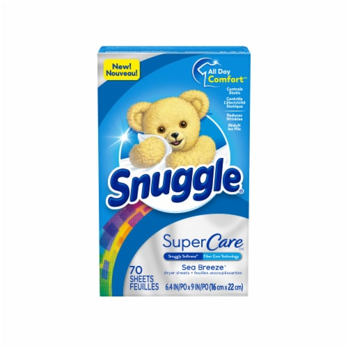 Snuggle Super Care Sea Breeze Dryer Sheets Perspective: front