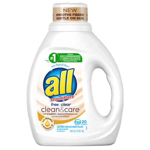 All Stainlifter Free & Clear Clean & Care Laundry Detergent Perspective: front