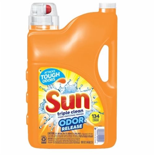 Sun Triple Clean Odor Release Laundry Detergent Perspective: front