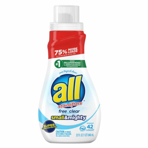 All Small & Mighty Free Clear Super Concentrated Liquid Laundry Detergent Perspective: front