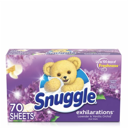 Snuggle Exhilarations Lavender & Vanilla Orchid Fabric Conditioner Dryer Sheets Perspective: front