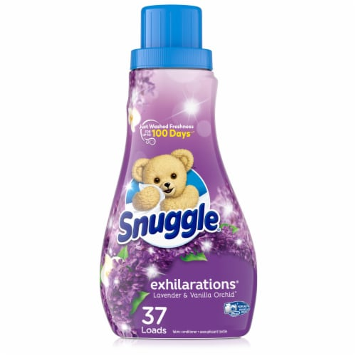 Snuggle Exhilarations Lavender & Vanilla Orchid Liquid Fabric Softener Perspective: front