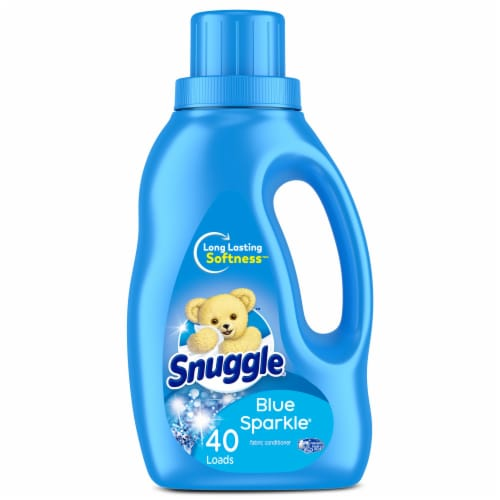 Snuggle Ultra Blue Sparkle Liquid Fabric Softener Perspective: front