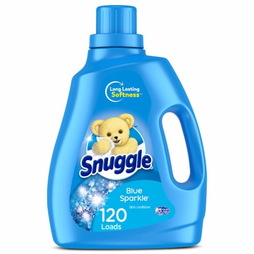 Snuggle Blue Sparkle Liquid Fabric Softener Perspective: front