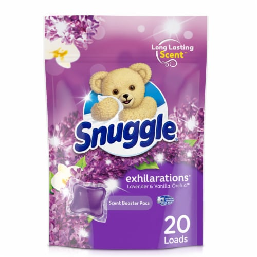 Snuggle Scent Boosters Lavender Joy Concentrated Scent Pacs 20 Count Perspective: front