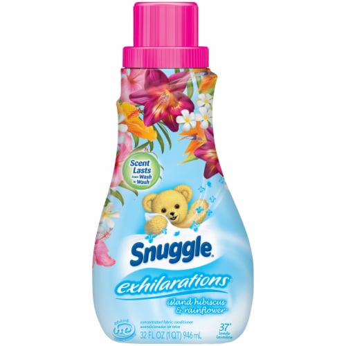 Snuggle Exhilarations Island Hibiscus & Rainflower Liquid Fabric Softener Perspective: front