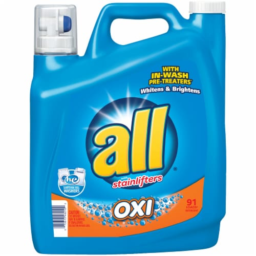 All Oxi with Stainlifters Oxi Liquid Laundry Detergent Perspective: front