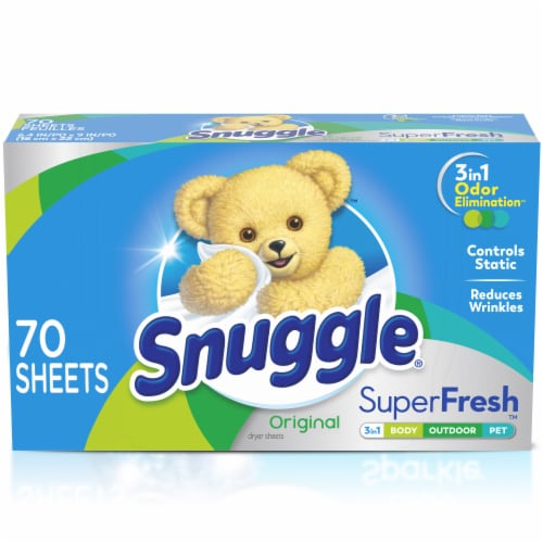 Snuggle Plus SuperFresh Original Fabric Conditioner Dryer Sheets Perspective: front