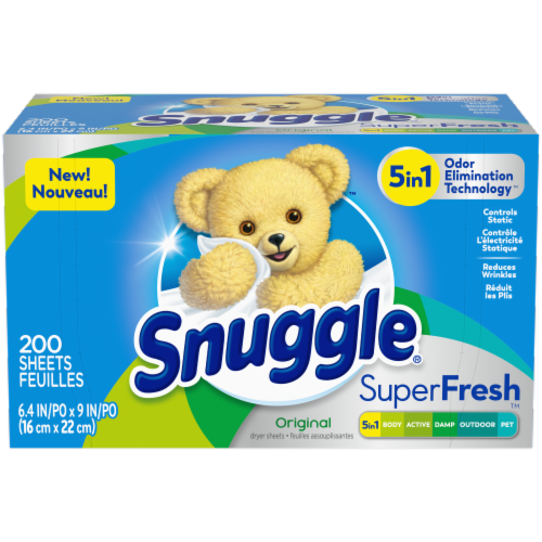 Snuggle Plus Superfresh Fabric Conditioner Sheets Perspective: front