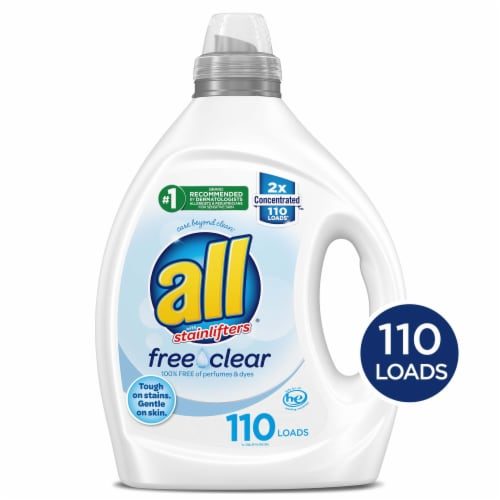 All Free Clear Liquid Detergent Perspective: front