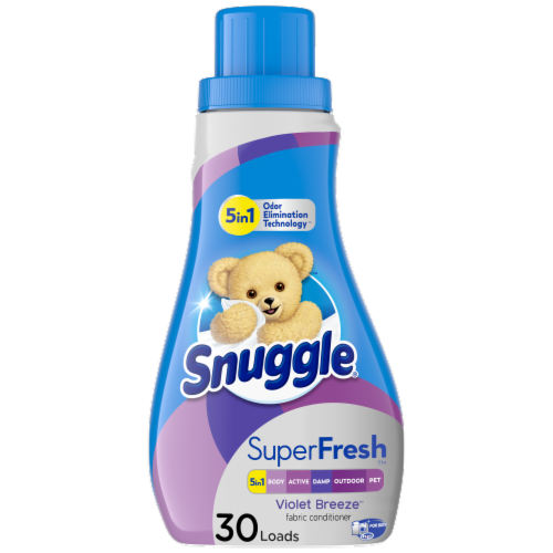Snuggle Plus SuperFresh Violet Breeze Liquid Fabric Softener Perspective: front
