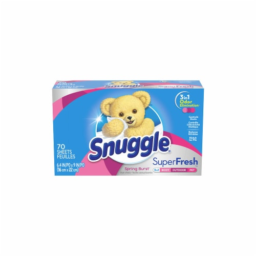 Snuggle Plus SuperFresh Spring Burst Fabric Conditioner Dryer Sheets Perspective: front