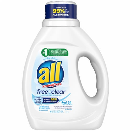 All® Stainlifters Free Clear Liquid Laundry Detergent Perspective: front