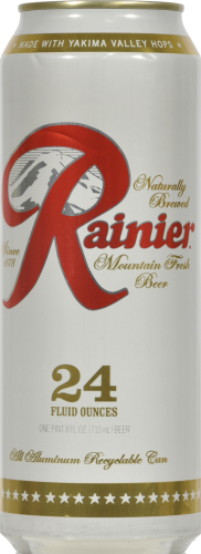 Rainier Beer Perspective: front