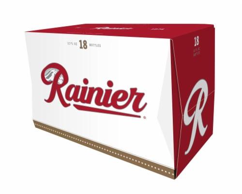 Rainier Beer Perspective: front