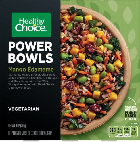 Healthy Choice Mango Edamame Power Bowls Perspective: front