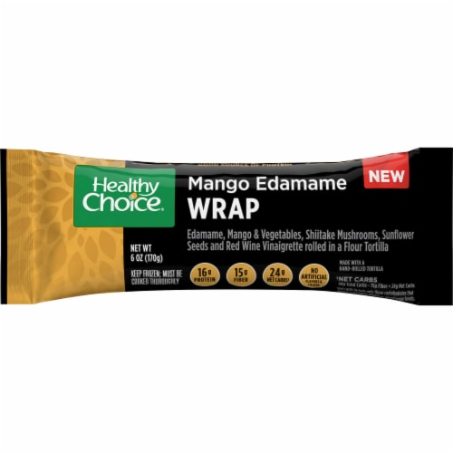 Healthy Choice Mango Edamame Wrap Perspective: front