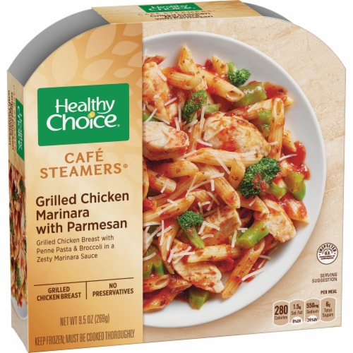 Healthy Choice Cafe Steamers Grilled Chicken Marinara Frozen Meal Perspective: front