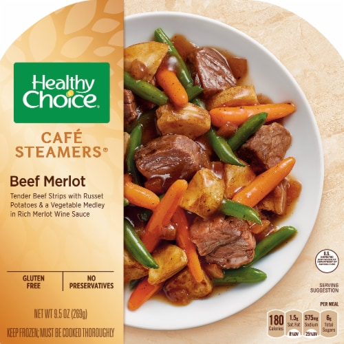 Healthy Choice Cafe Steamers Beef Merlot Perspective: front
