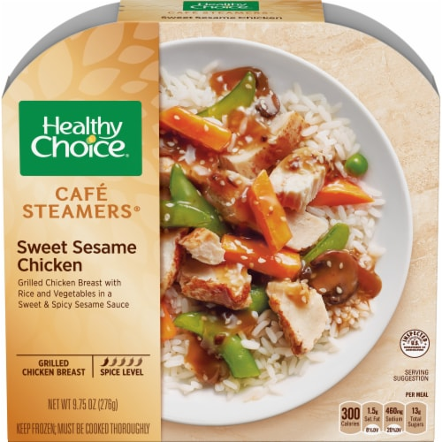 Healthy Choice Cafe Steamers Sweet Sesame Glazed Chicken Meal Perspective: front