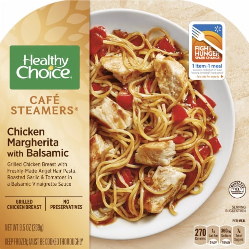 Healthy Choice Cafe Steamers Chicken Margherita with Balsamic Frozen Meal Perspective: front