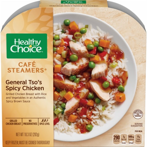 Healthy Choice Cafe Steamers General Tso's Spicy Chicken Perspective: front
