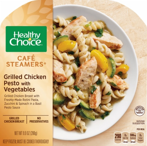 Healthy Choice Cafe Steamers Grilled Chicken Pesto with Vegetables Perspective: front