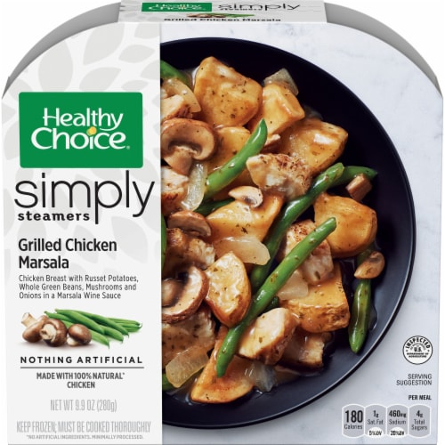 Healthy Choice Simply Steamers Grilled Chicken Marsala Perspective: front