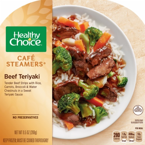 Healthy Choice Cafe Steamers Beef Teriyaki Frozen Meal Perspective: front