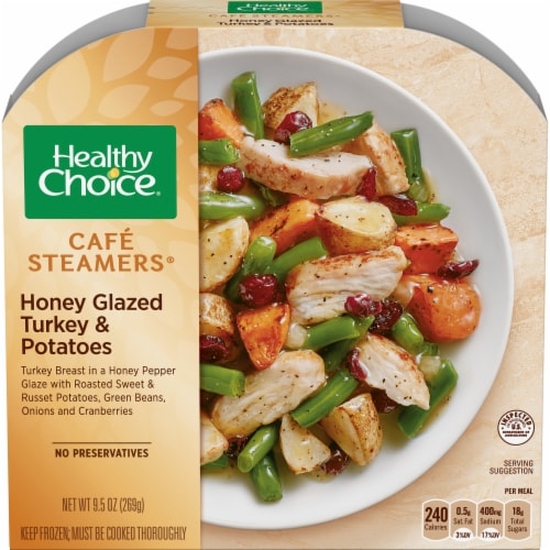 Healthy Choice Café Steamers Honey Glazed Turkey & Potatoes Perspective: front