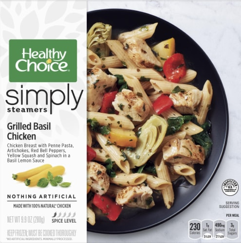Healthy Choice Simply Steamers Grilled Basil Chicken Frozen Meal Perspective: front