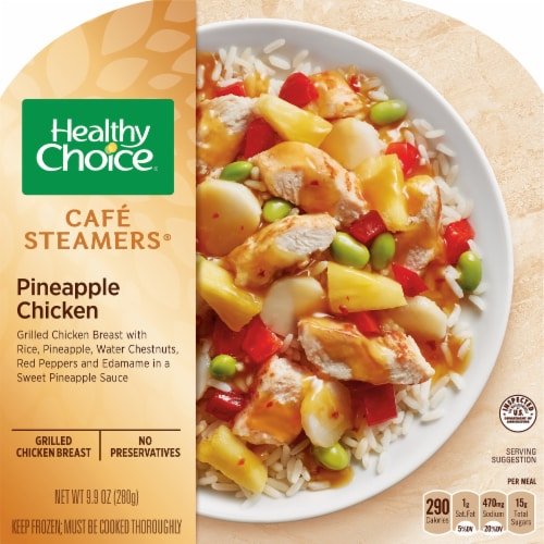 Healthy Choice Cafe Steamers Pineapple Chicken Frozen Meal Perspective: front
