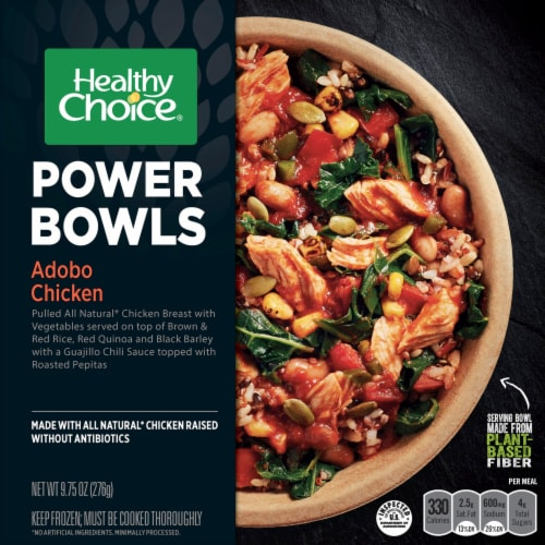 Healthy Choice Power Bowls Adobo Chicken Frozen Meal Perspective: front