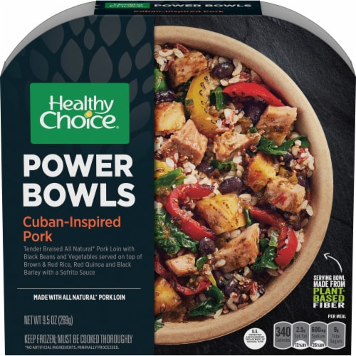 Healthy Choice Power Bowls Cuban-Inspired Pork Frozen Meal Perspective: front