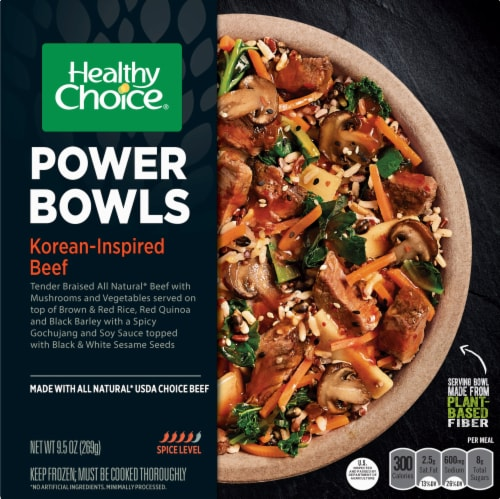 Healthy Choice Power Bowls Korean-Inspired Beef Frozen Meal Perspective: front