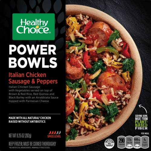 Healthy Choice Power Bowls Italian Chicken Sausage & Peppers Meal Perspective: front